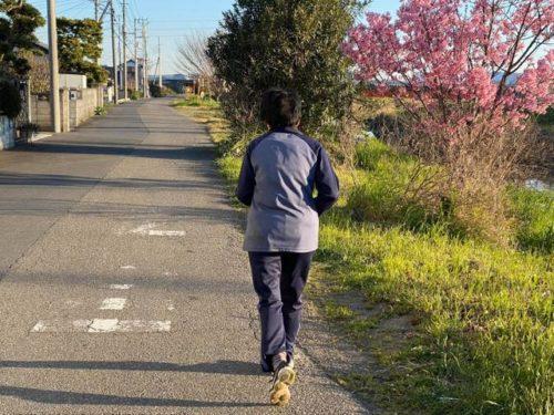 妻のジョギング