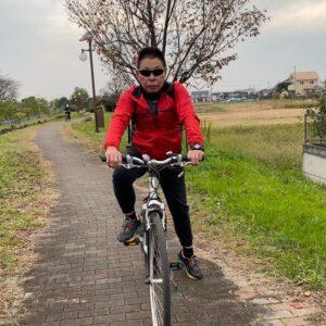 夫婦でサイクリング